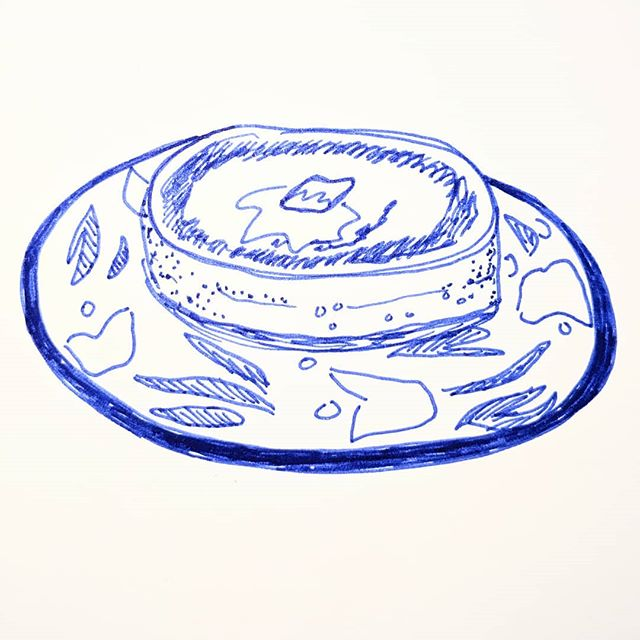 #Inktober Day 14: A very important mega pancake made in an Instant Pot.