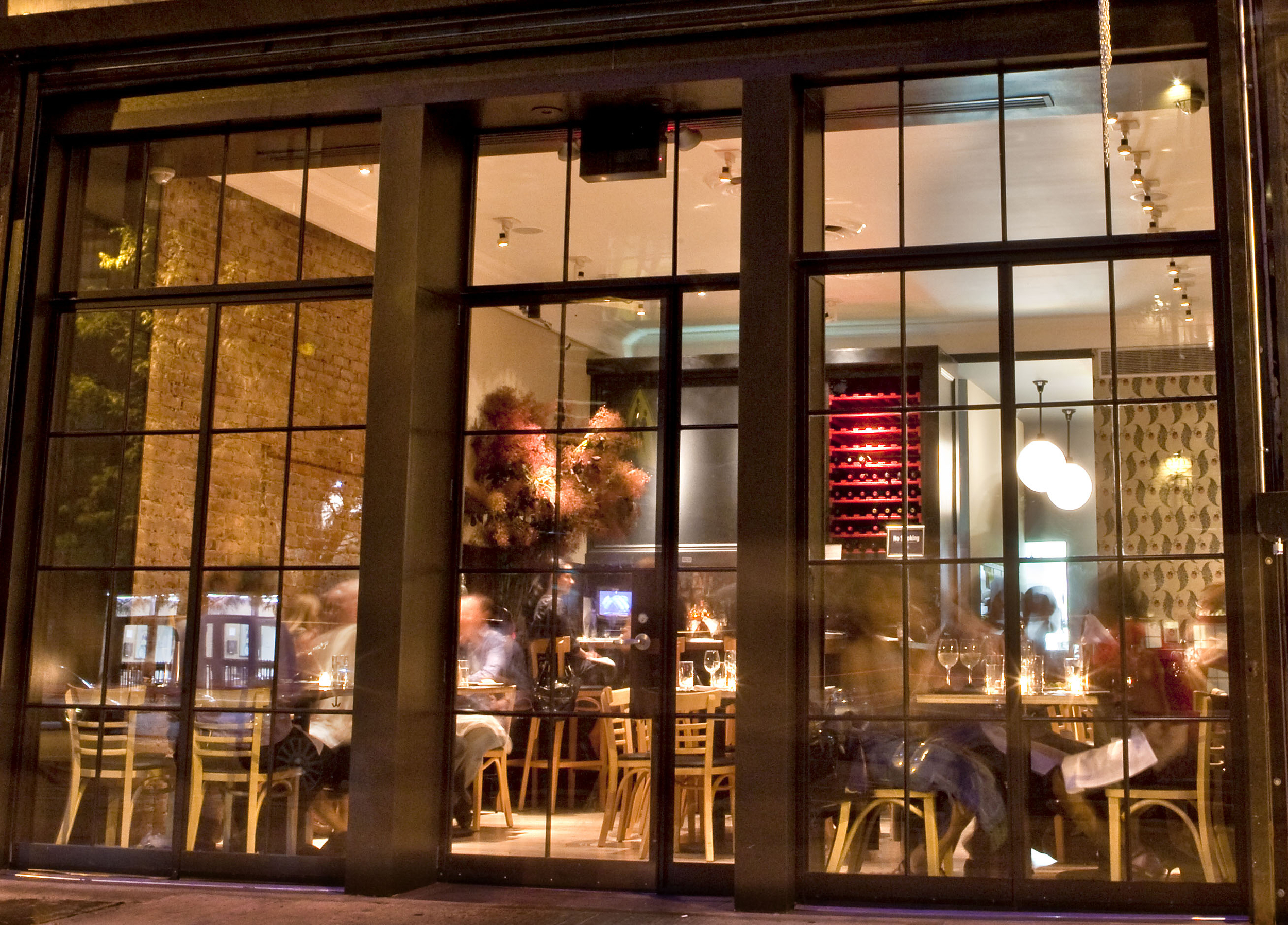 Storefront Elevation from Street (Restaurant renovation)