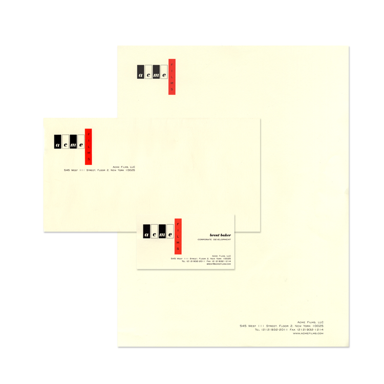 Acme Films Stationery Package