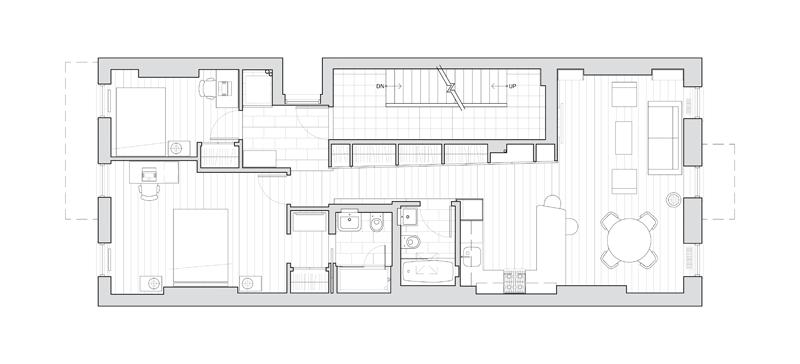 East Village loft apartment renovation by Hellow Studio