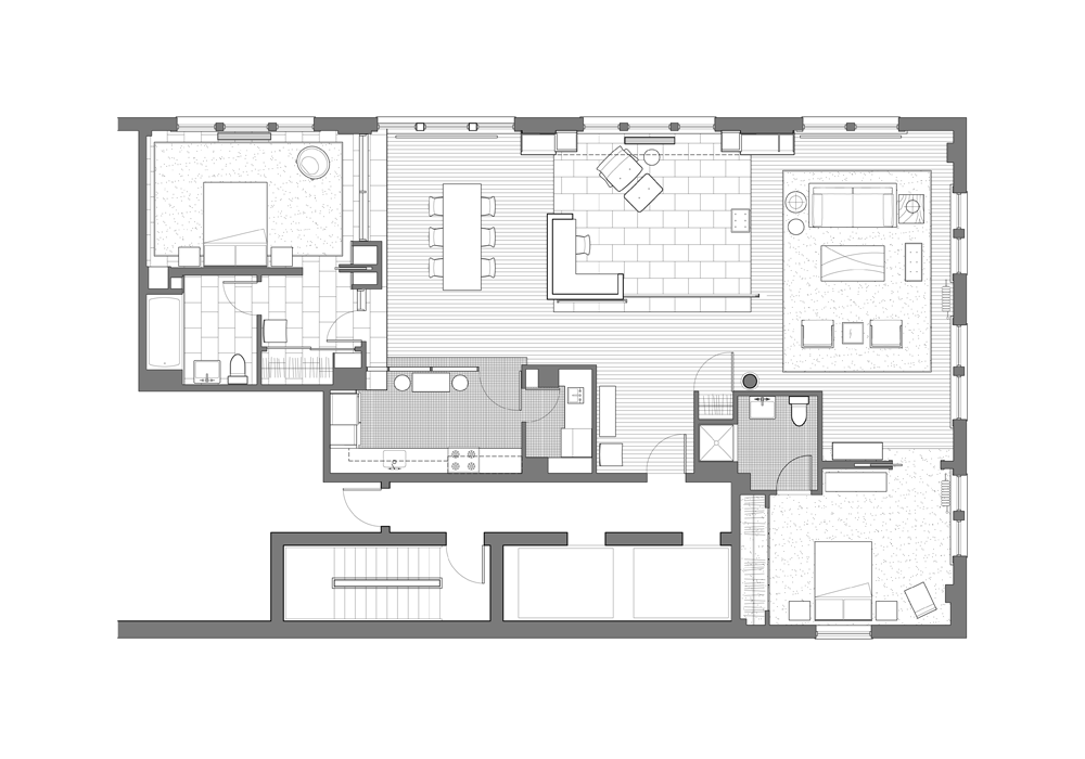 NoHo Loft design by Hellow Studio
