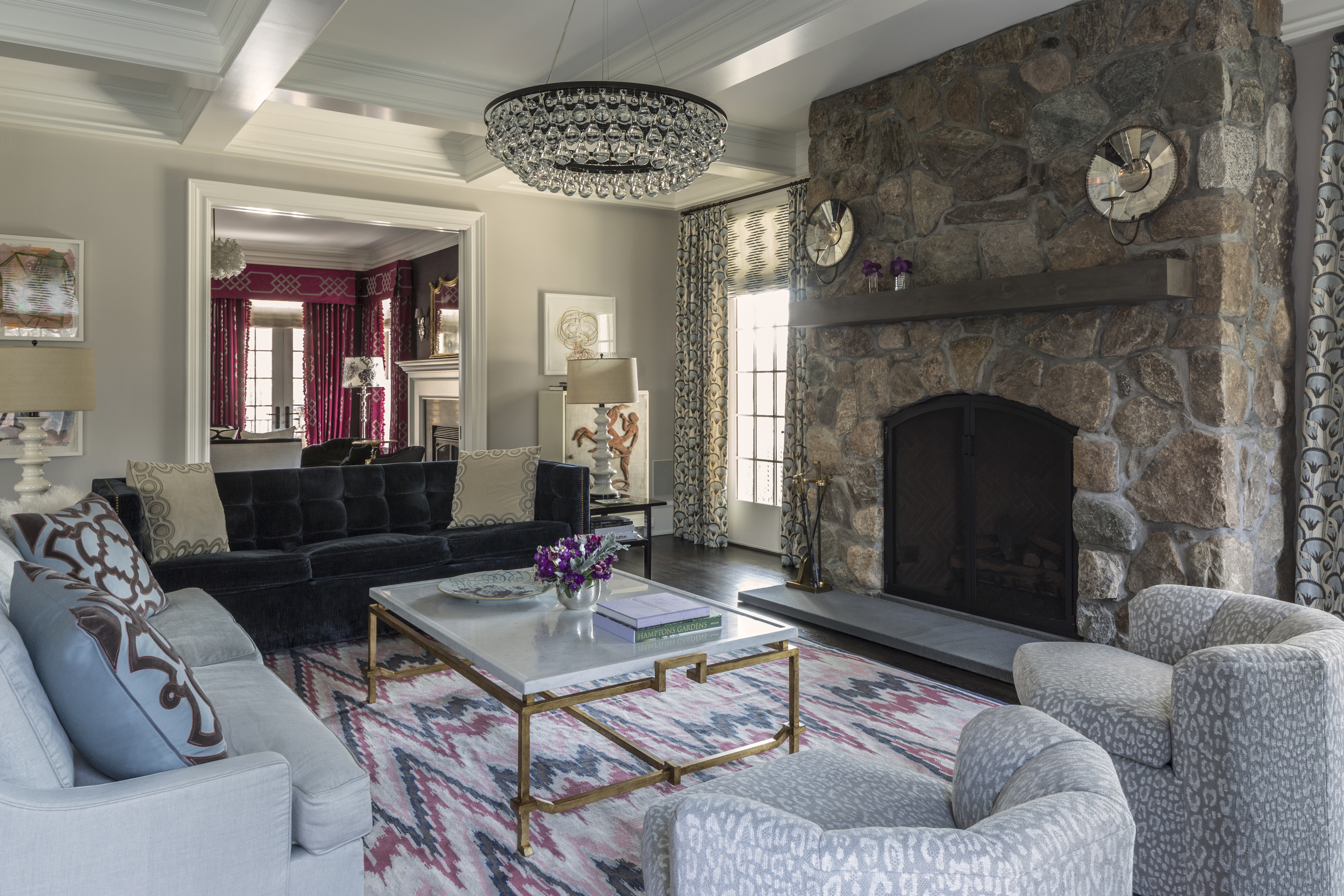 Old Greenwich Residence Living Room Design