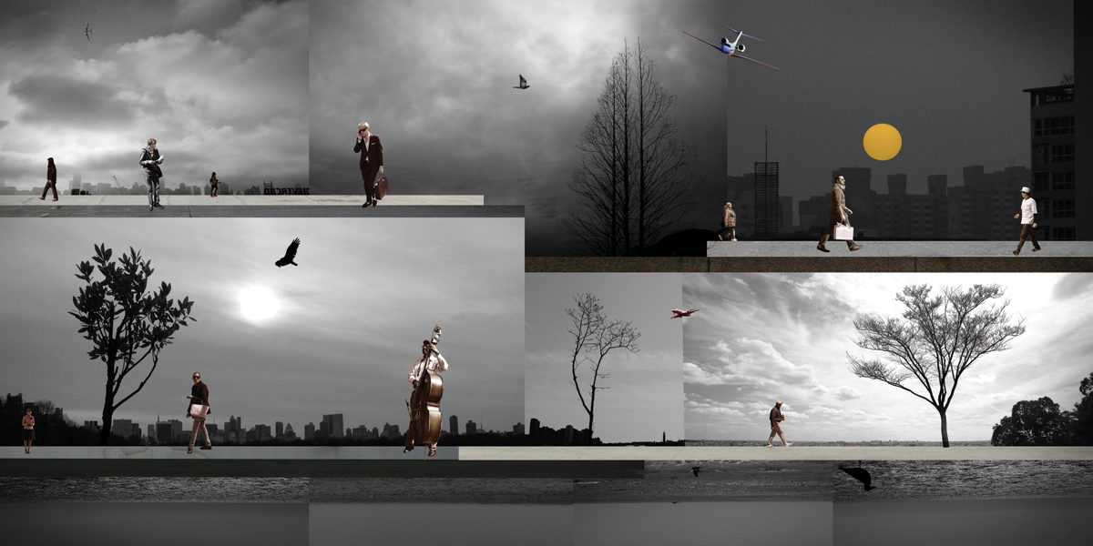 A world in the City II-04(30x60 in)2010