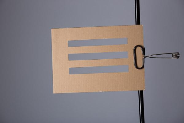 "Cardboard gobo 9""x12"""