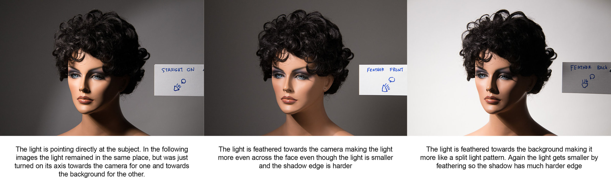 Feathering the light using a hard light source (an 11-inch deep zoom reflector)