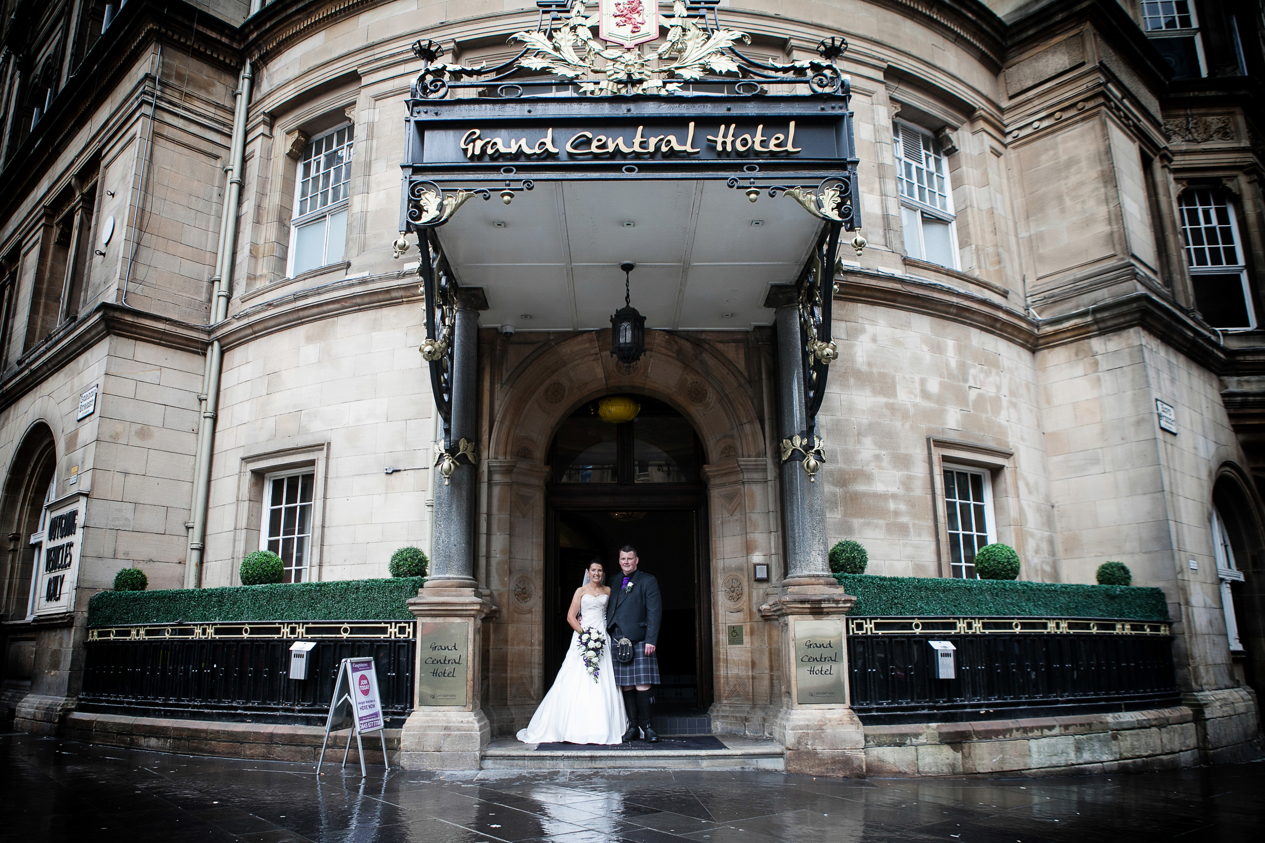 Grand Central Hotel Glasgow wedding photos