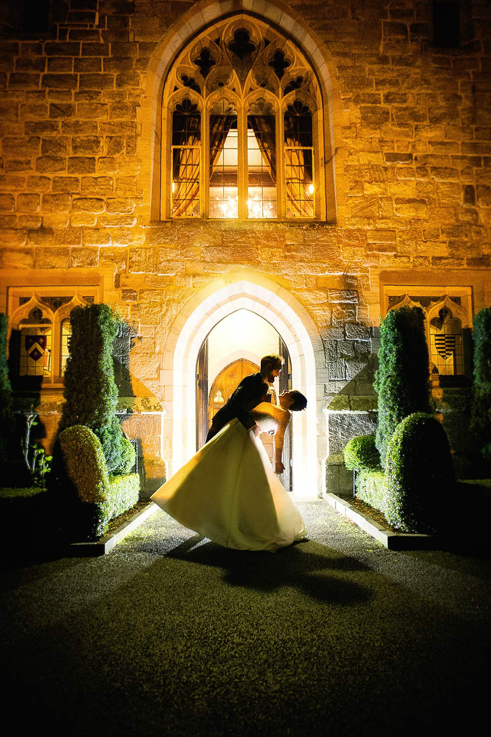 langley castle wedding photography