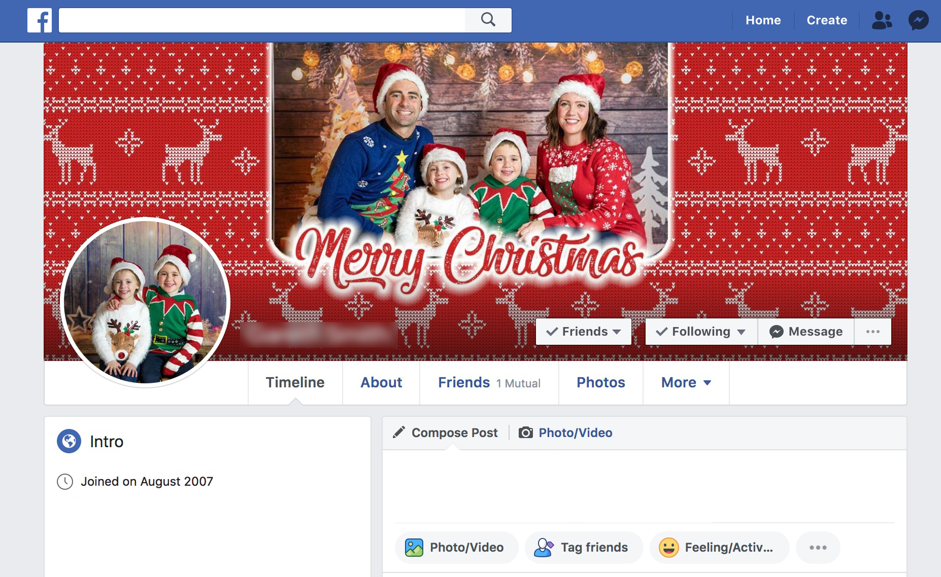 Includes Facebook cover image - Included with all packages, FB cover image that has been designed to fit cover area. Add another image from your shoot to create the perfect Christmas theme.