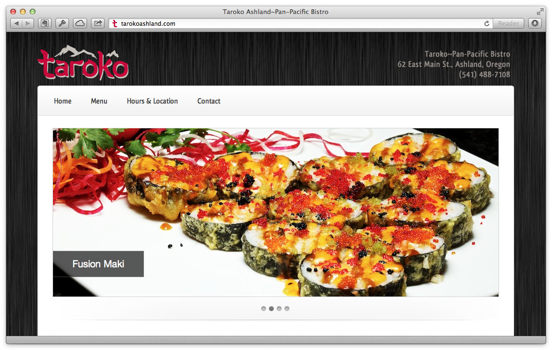 Taroko of Ashland's website
