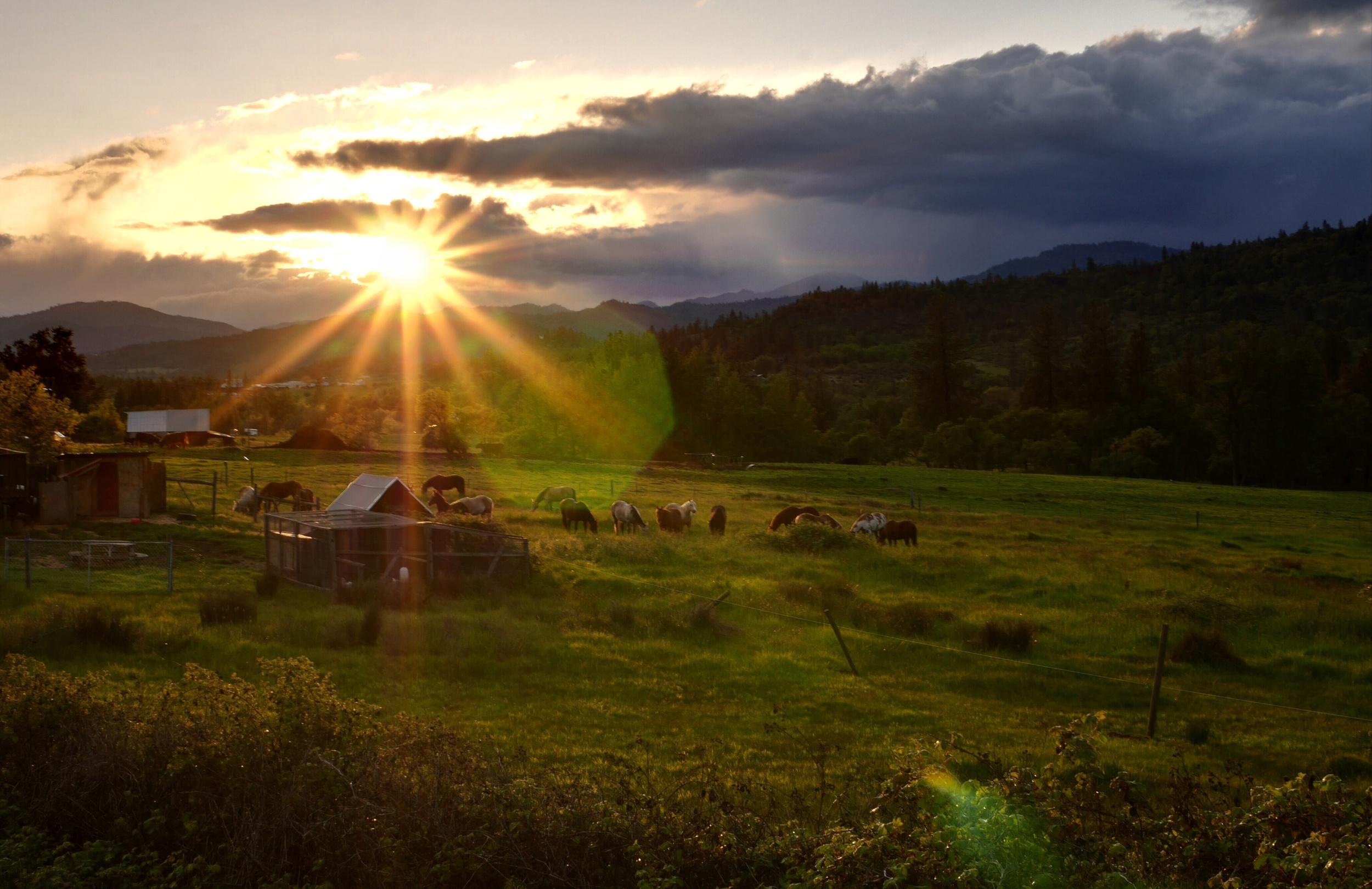 Sunset near Eagle Point, Oregon
