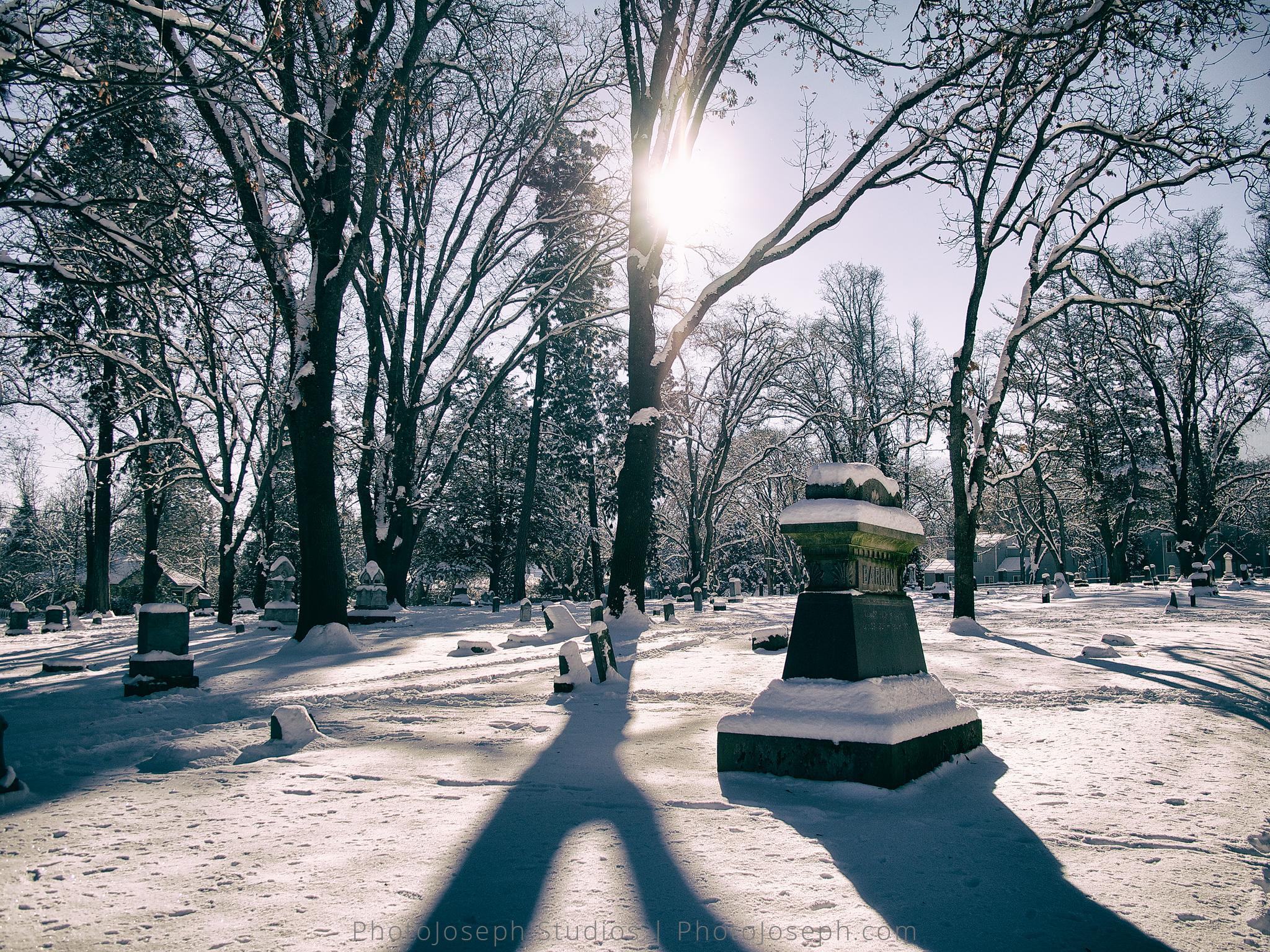 Snow at Ashland Cemetery
