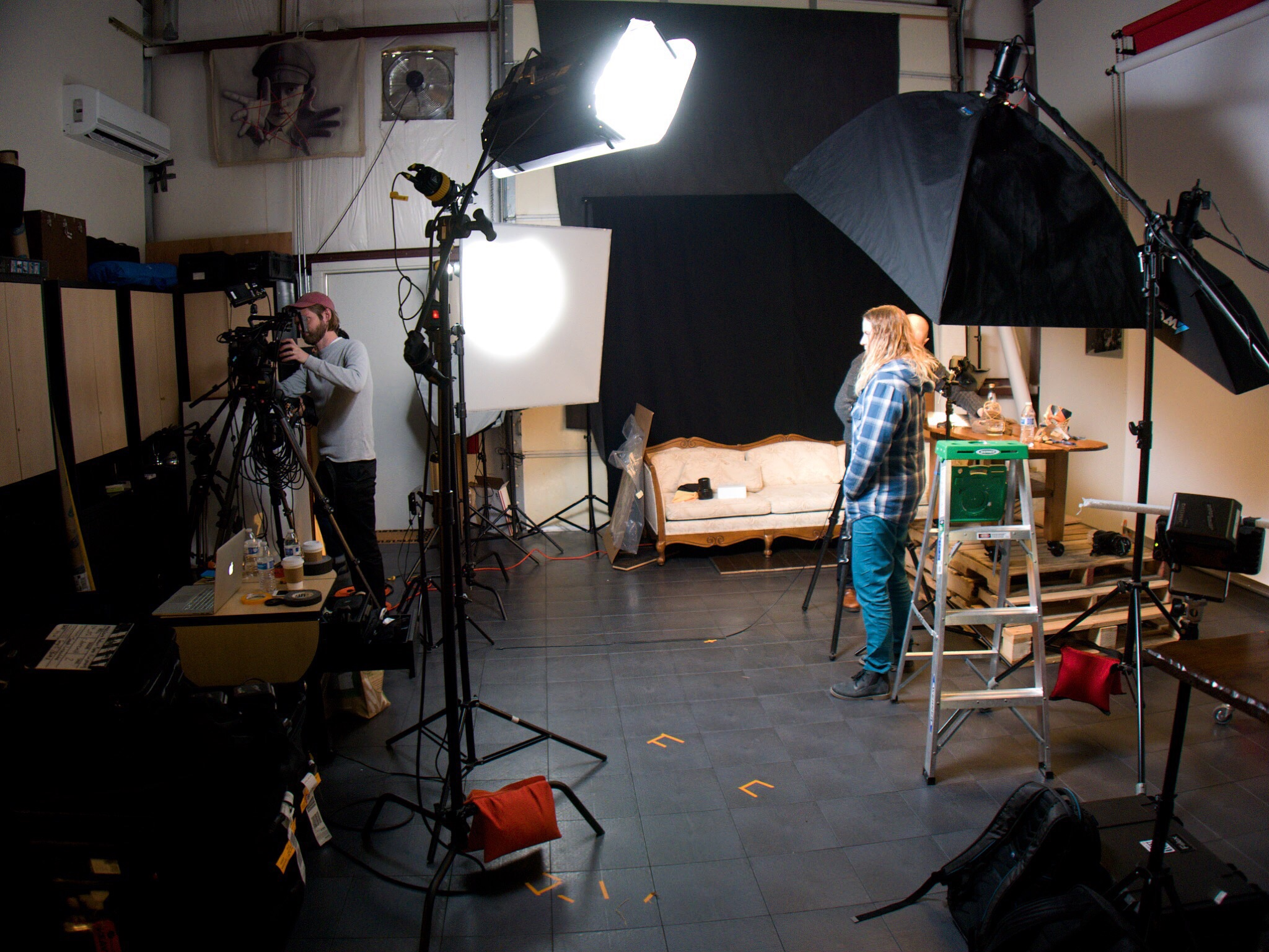 Some of the lights you see were for the video set itself; some were part of the content. As you can imagine, it can be a little tricky showing anything to do with lighting on video and not having the lights that light the set interfere with the demo setup.