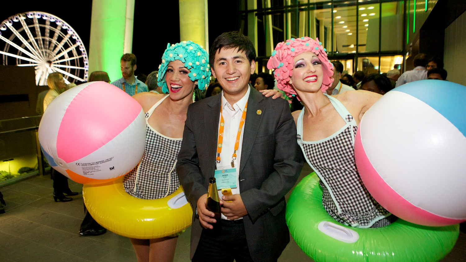 Corporate welcome reception event at BCEC