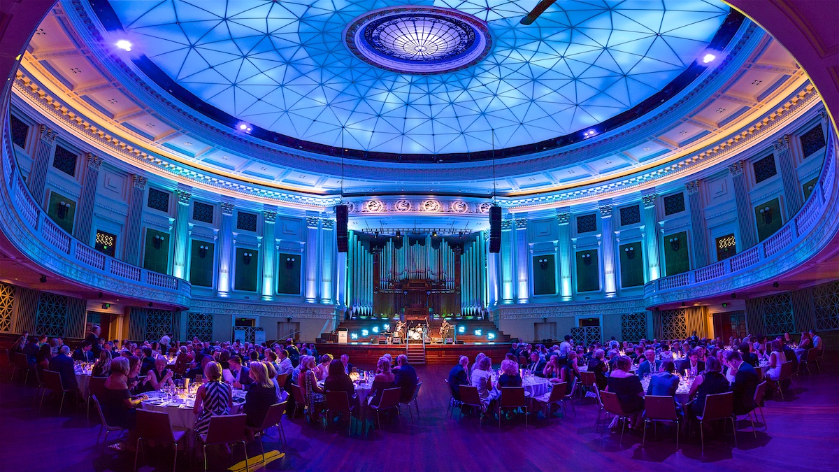 Brisbane City Hall corporate gala dinner event