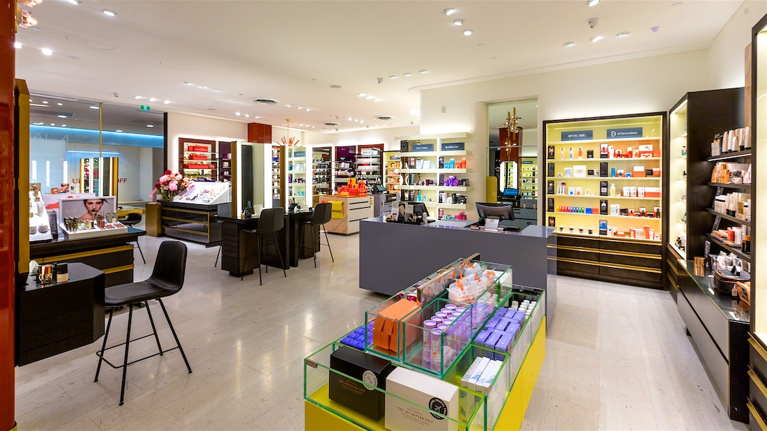 Commercial photography for Mecca stores in Brisbane