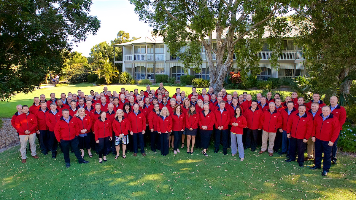 Corporate conference group photo at Sunshine Coast Convention Centre