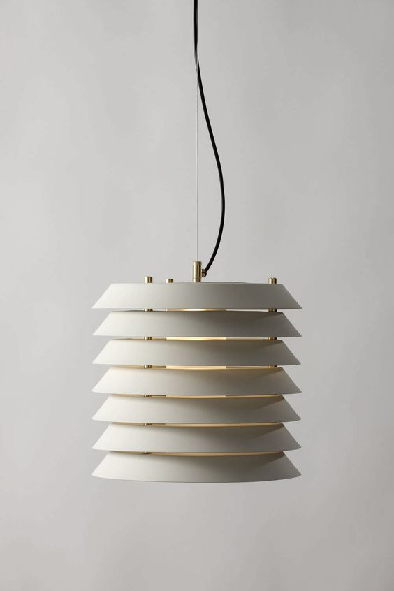 Maija by Santacole Spain  Ilmari Tapiovaara. 1955 The warm, filtered light housed within the Maija series now with LED technology, in the new hanging lamp version based on the original 1955 design and re-edited in two sizes: Maija S and Maija L