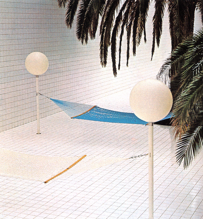 Swimming Pool in France by Architect Alain Capeilleres 1986