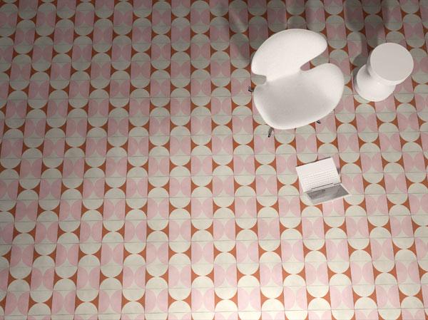 India Mahdavi cement tiles for Bisazza