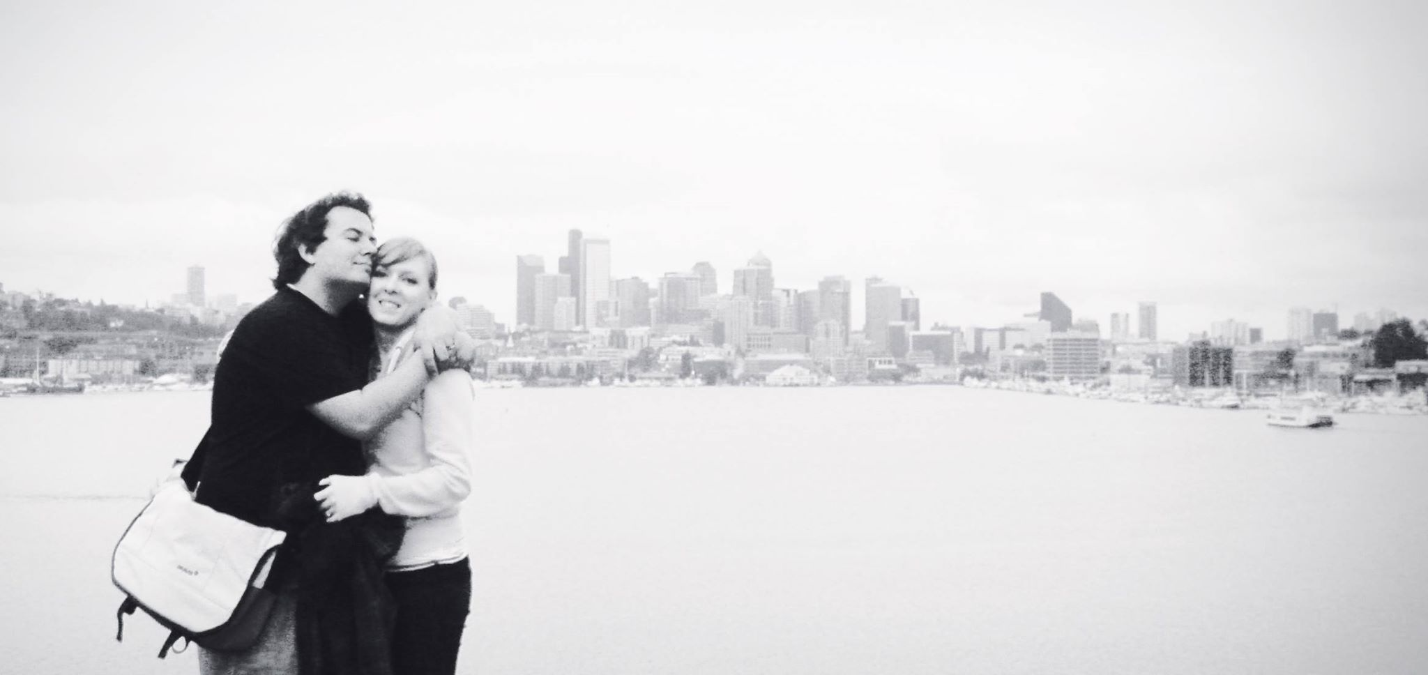 Neil and me overlooking the Seattle skyline from Gas Works Park
