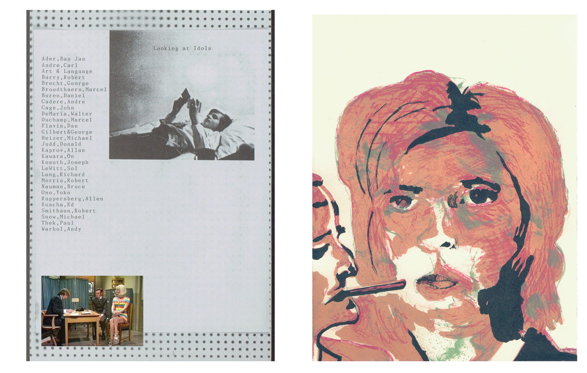 Page 9-10: Carol, Eric and Michael,Rosemarie and Cliff  - digital print and color lithograph