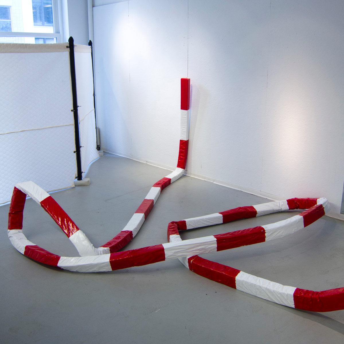 Brute By the Foot , polyurethane foam, paper, acrylic, enamel - 2014