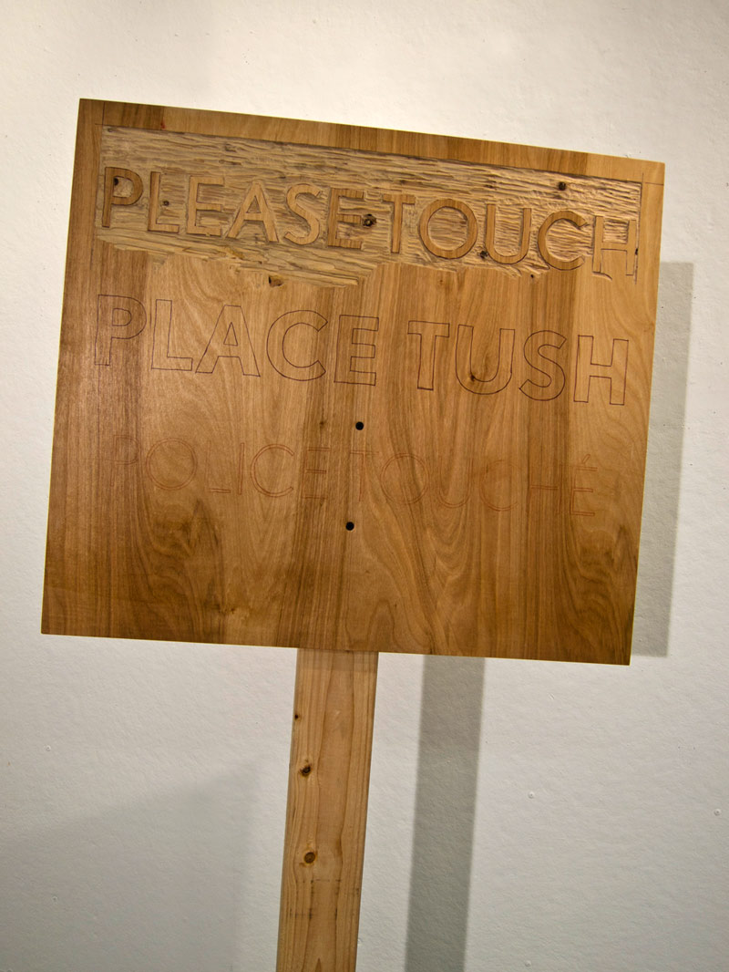 Please Touch , wood, cement - 2014