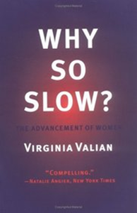 Why so slow?   Virginia Valian's excellent book on the advancement of women is full of interesting empirical studies. This was the first book I read on the topic and remains one of the most influential. ( Amazon )
