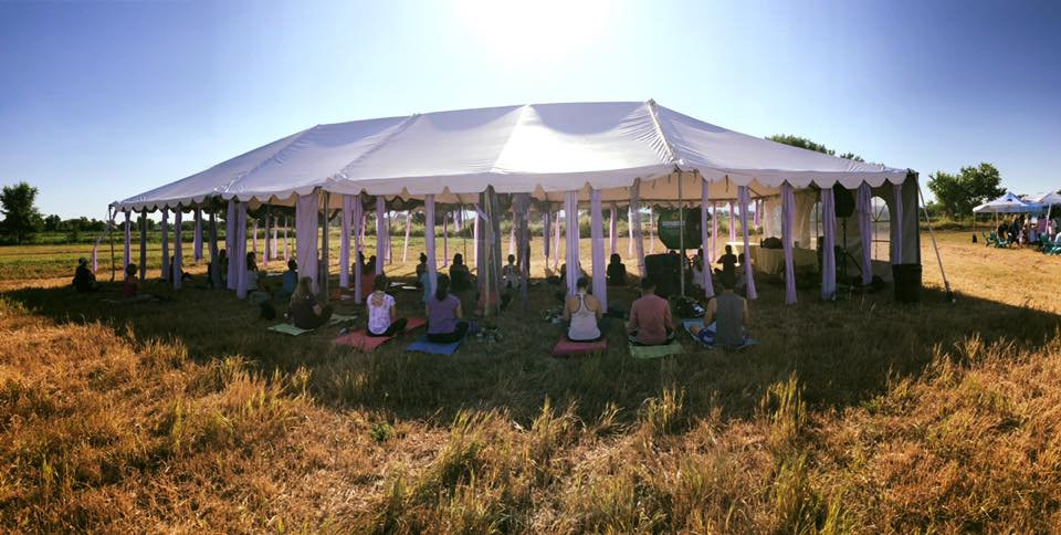 Yoga Tent at the Lavender Festival 2019