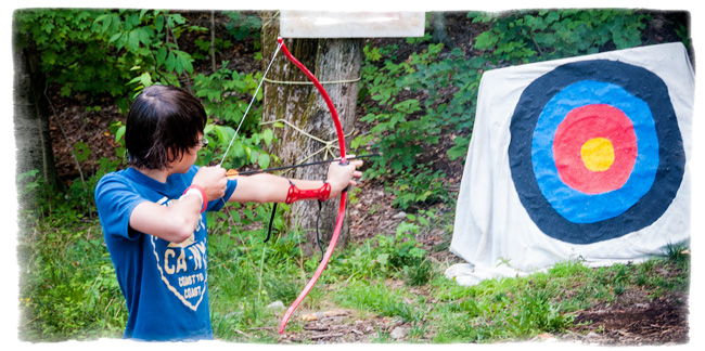 Archery is one of the most popular activities at Camp Scully.