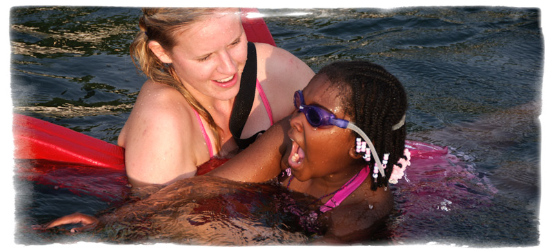 Swim lessons are provided to all campers every week.