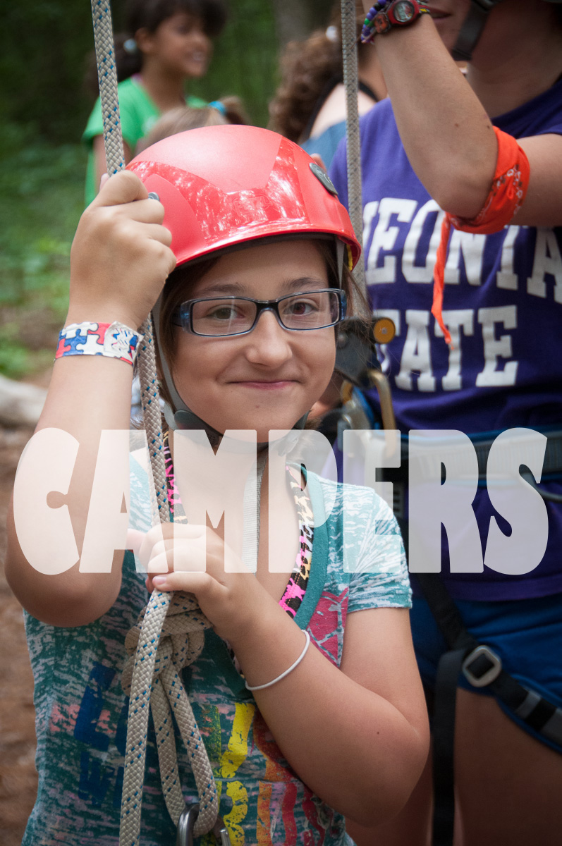 She is about to have a lot of fun and challenge herself, too.  Can you imagine yourself at Summer Camp?    Camp Scully has a wide variety of activities.