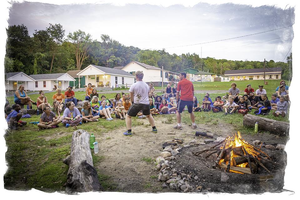 Counselors enriching lives at Campfire.