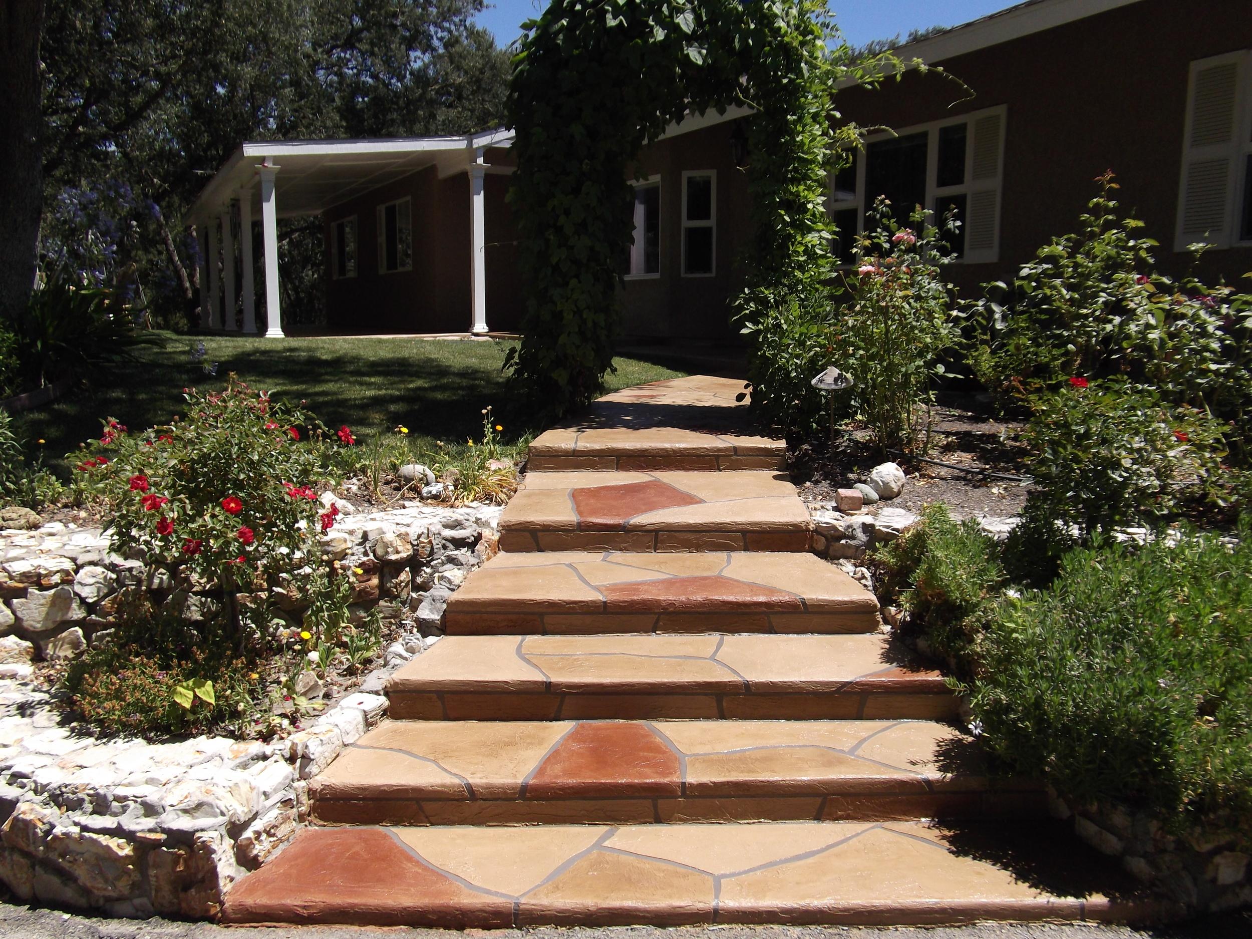 Flagstone walk and steps