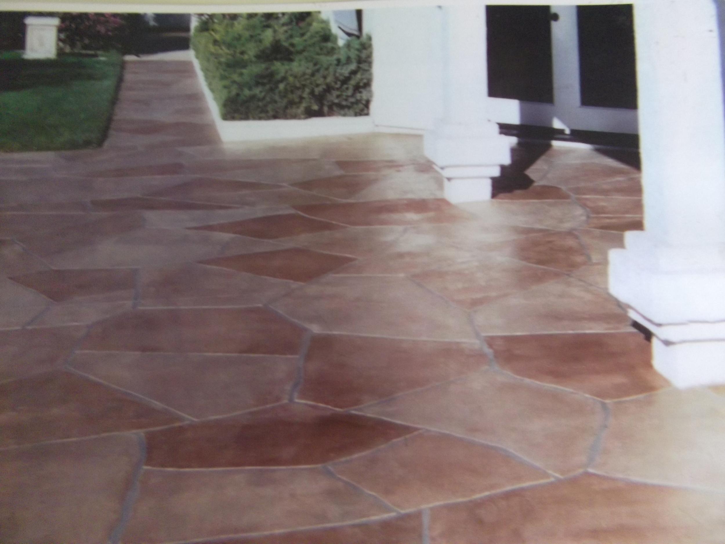 Spanish Brown flagstone patio in Nipomo