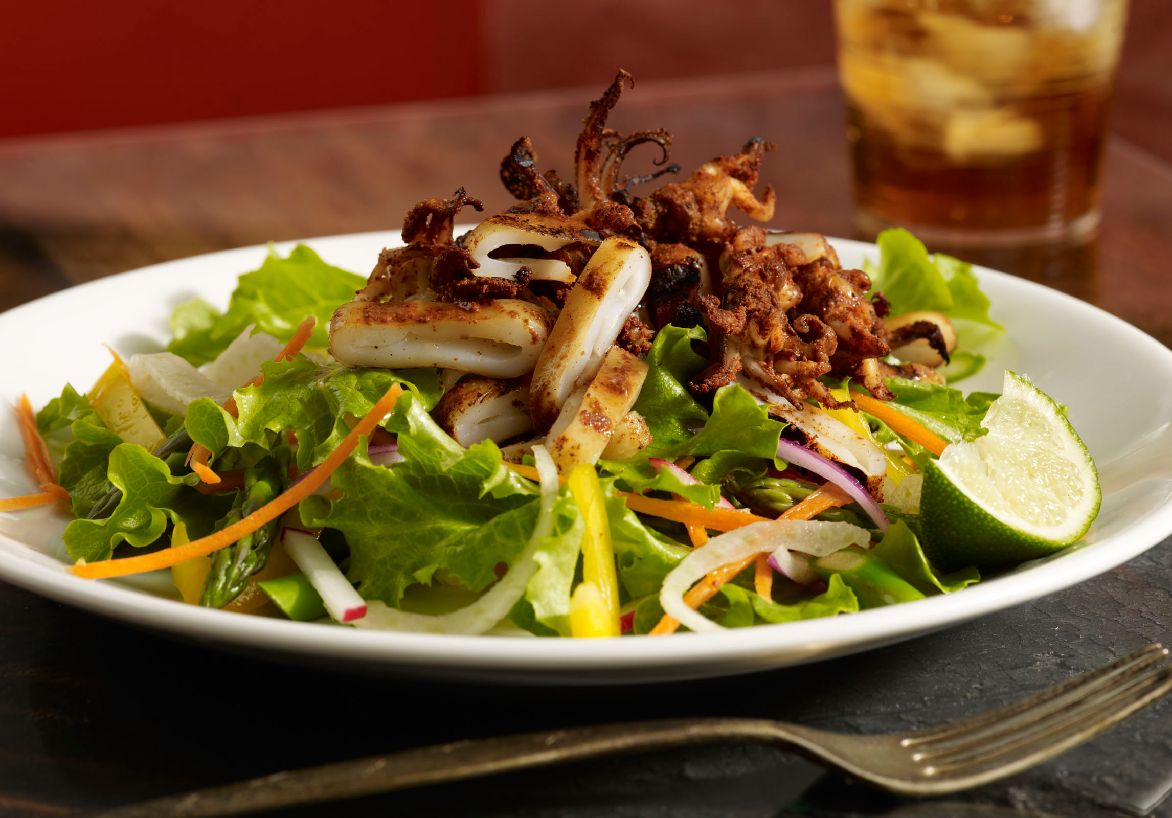 Grill Squid Salad