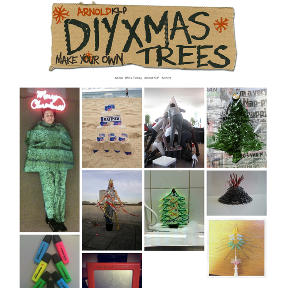 From the operating table in Bristol General to Bondi Beach in Australia DIY Christmas trees sprung up everywhere.