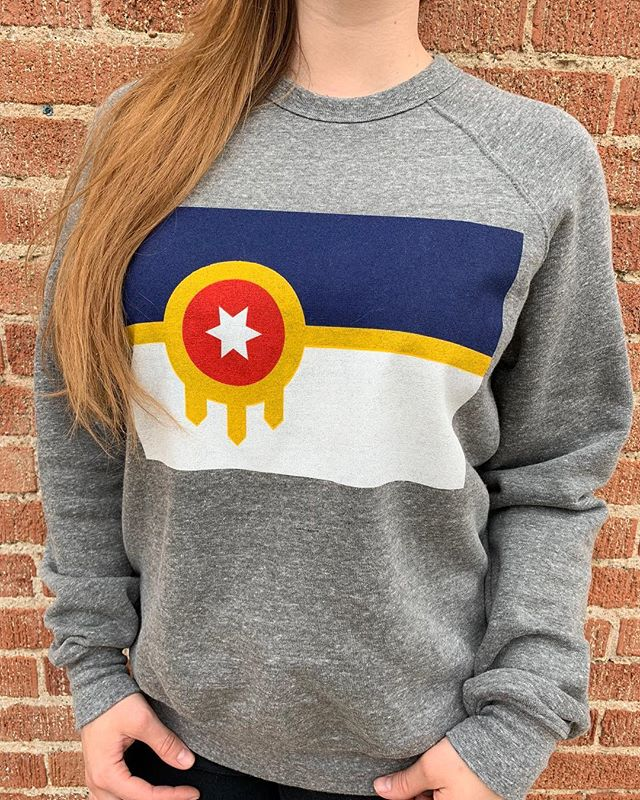 Staying nice and warm in this @tulsaflag sweatshirt 🥰 . . . . #tulsa #tulsaok #tulsaoklahoma #shopsmall #shopsmalltulsa #shopsmallok #shoplocal #shoplocaltulsa #shoplocalok #oklahoma #mytulsa #mytulsaworld #myoklahoma #smallbusiness #shoptulsa #brooksidetulsa #mainstreettulsa