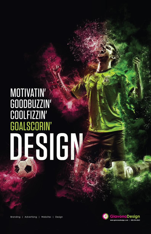 Self-Promo piece for GiavonaDesign, LLC  Submission: GoalScorin' Poster
