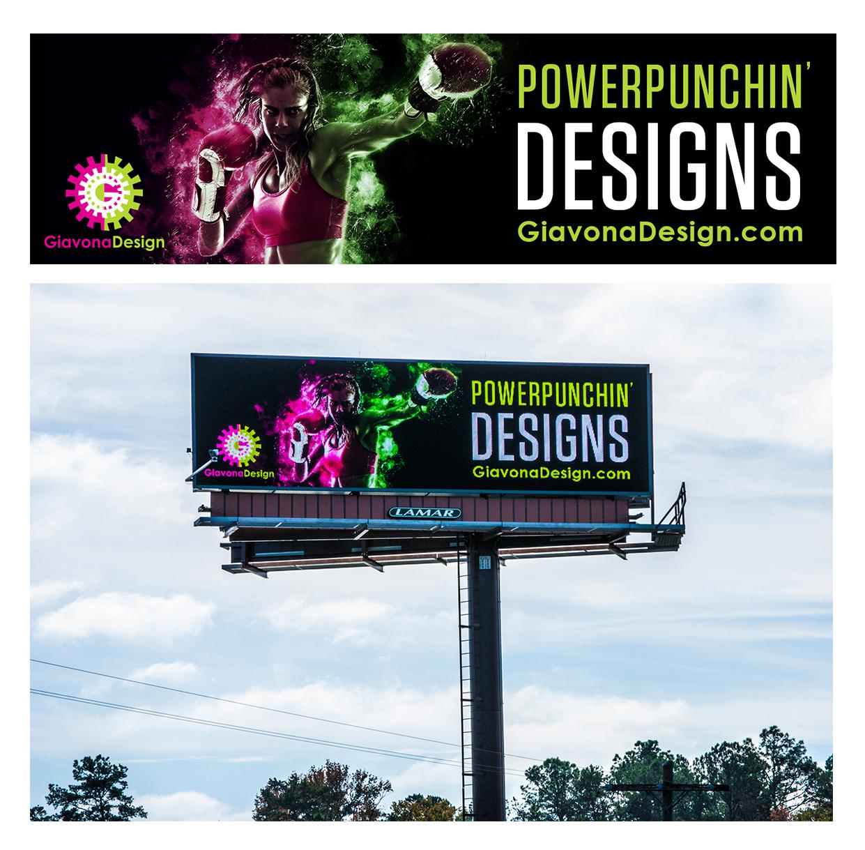 Self-Promo piece for GiavonaDesign, LLC  Submission: Motivatin' Design Integrated Campaign