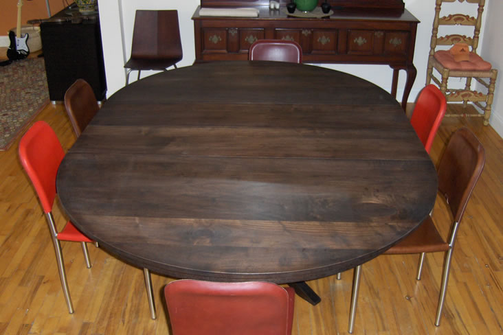 Walnut Table Extended