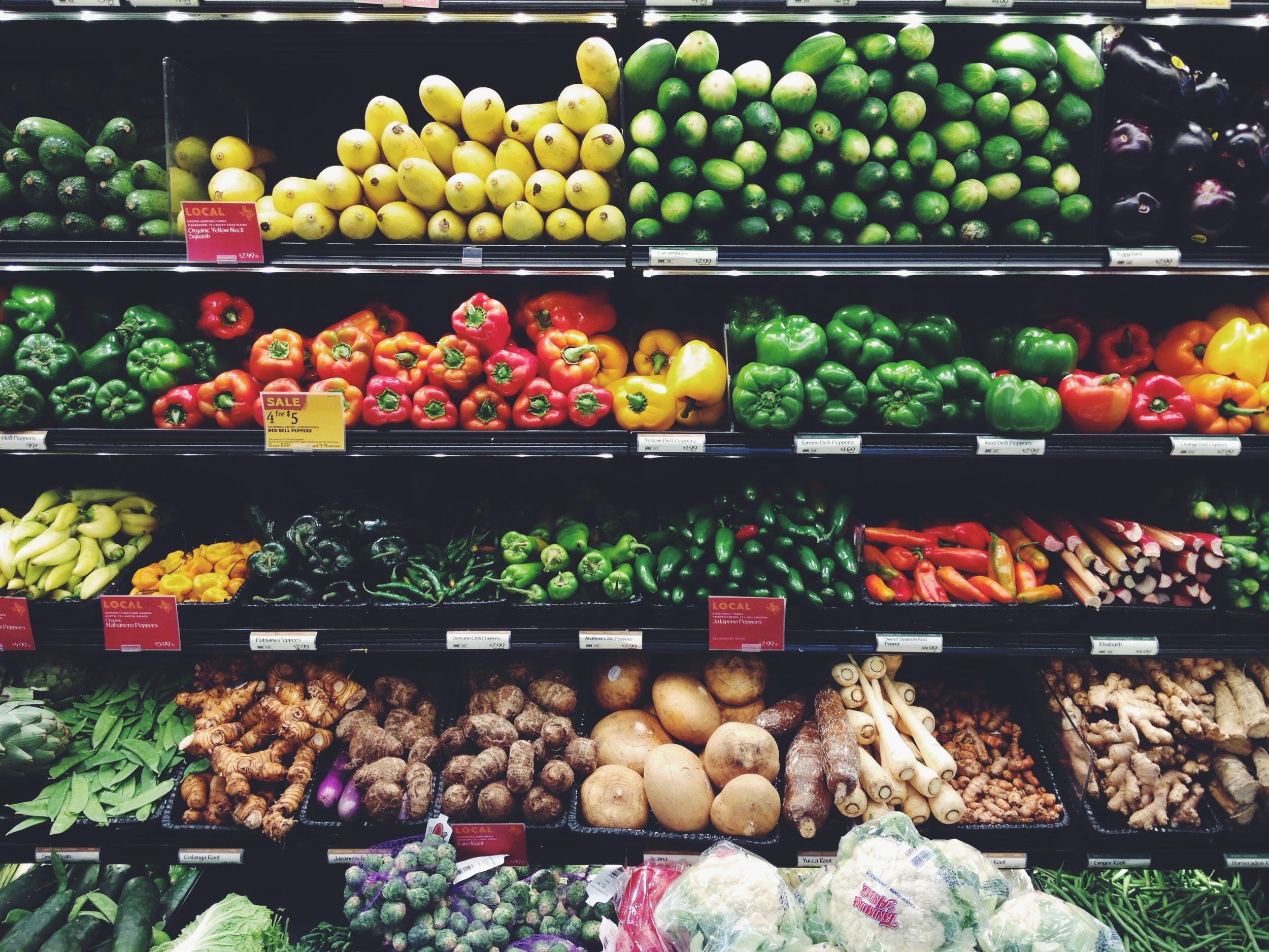 Organic produce aisle, I missed you so! Back in 'Muhrica.