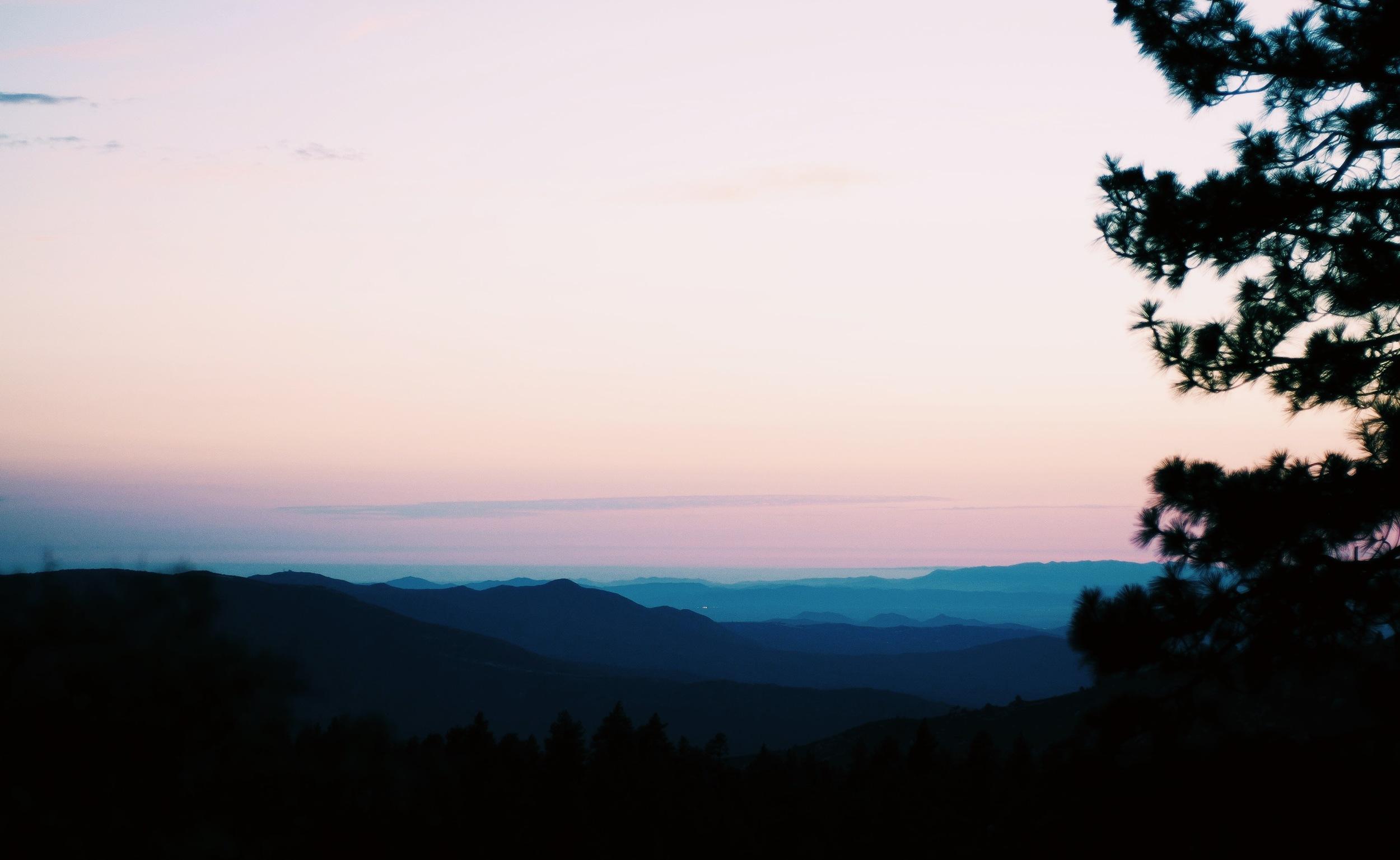 Sunset in Idyllwild.