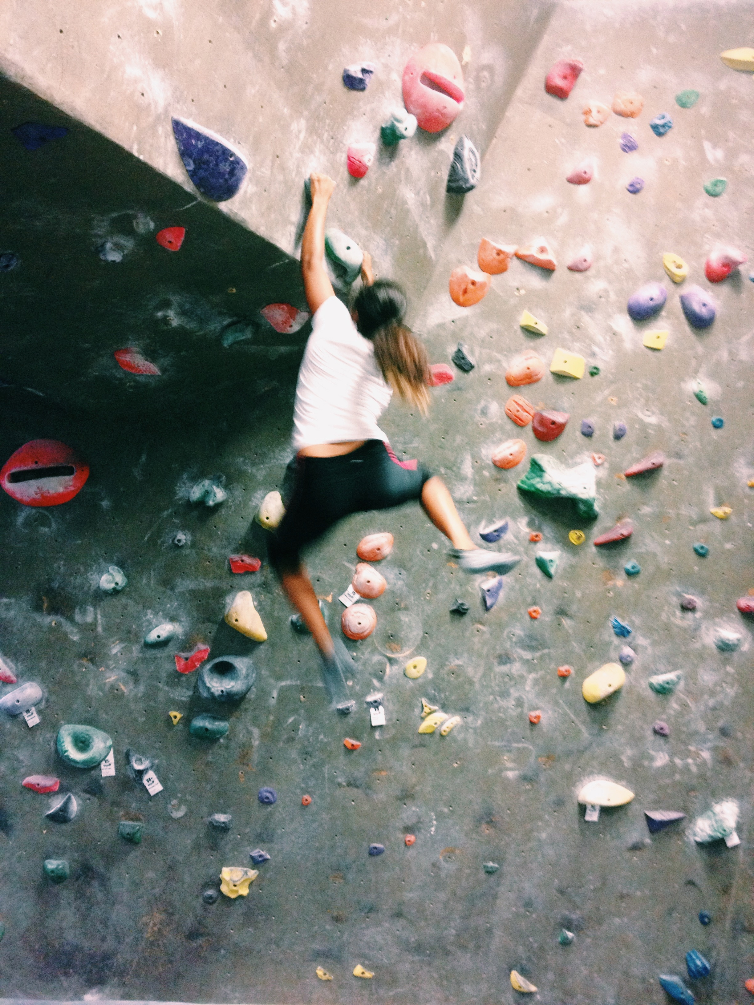 Started climbing this semester. Now I am totally addicted.