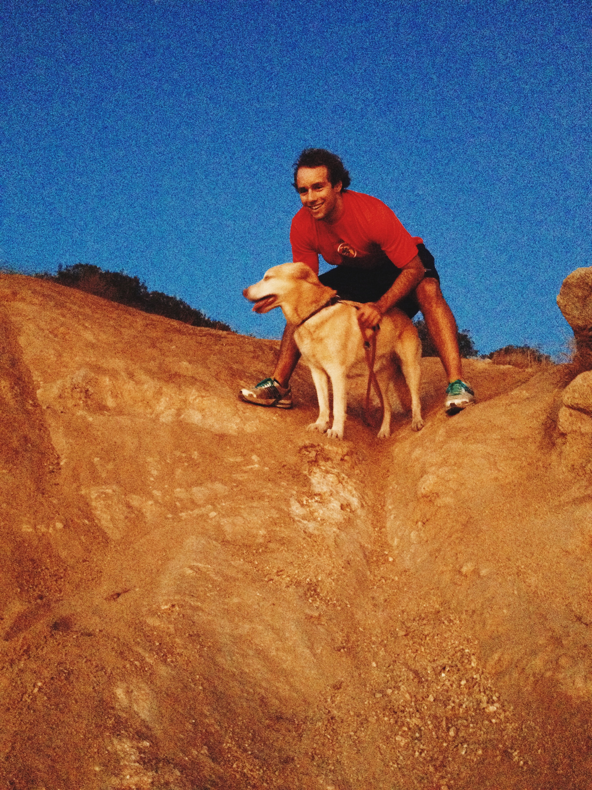 Daveykins and Kaya on our run/hike/all round adventure