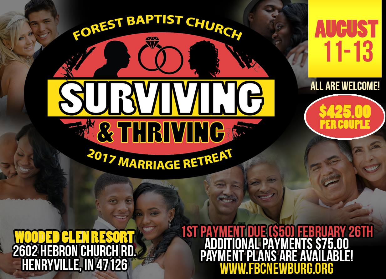 Copy of Forest Baptist Church Marriage Retreat Flyer