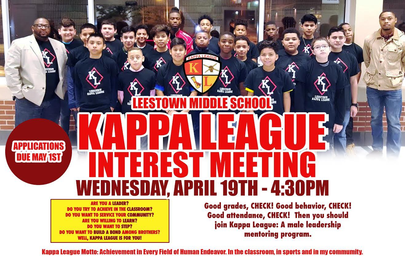 Copy of Leestown Middle School Kappa League Interest Meeting flyer