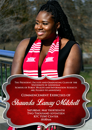 Copy of Shaunda Graduation Invitations