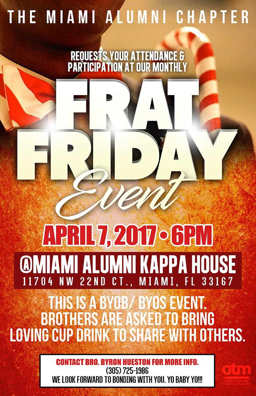 Copy of Miami Kappas Frat Friday flyer