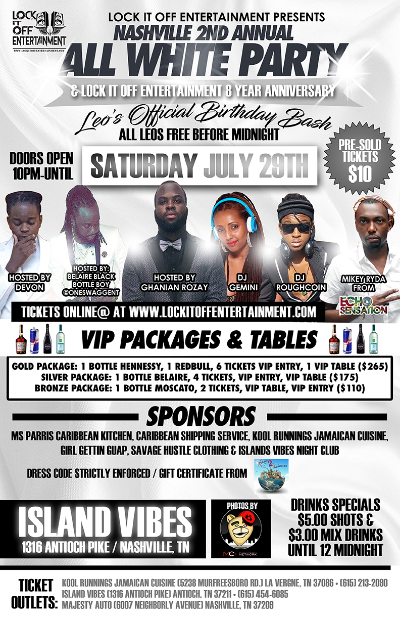 Copy of Lock It Off Ent. All White Party flyer